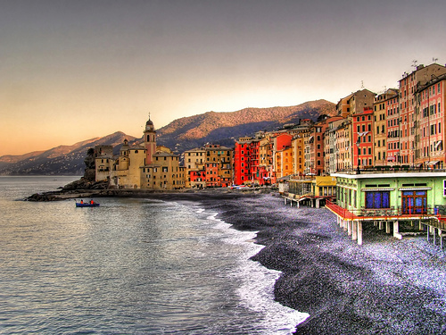 Camogli typical buildings